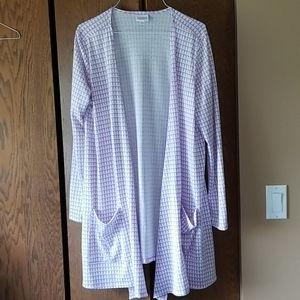 Lularoe Caroline Sweater White & Lilac